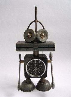 GE - Robot Assemblage Sculpture by Brian Marshall by adopt-a-bot, via Flickr