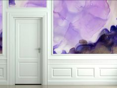 watercolor wall paper. yes please.