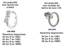 Anéis Em Prata 925 Banho Ouro 14k Cristais De Zircônia - R$ 107,00 no MercadoLivre