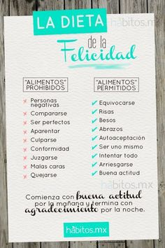 La Dieta de La Felicidad!!!