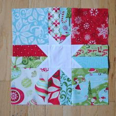 Sew Sweetness: '12 days of Christmas' Block 4: Scrappy Star