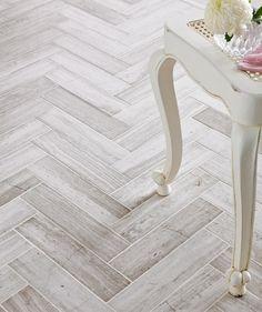 Bleach whitewash wood herring bone pattern love it. Teakwood Polished 7.5x30.5 Tile | Topps Tiles