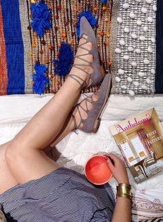All Roads x Anthropologie Majida Throw. Billy Ella Lace-Up Flats Sock Shoes, Cute Shoes, Me Too Shoes, Shoe Boots, Flat Shoes, Passion For Fashion, Love Fashion, Fashion Shoes, Fashion Trends