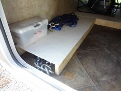 Cheap and simple-to-make camper storage boxes are a great way to corral greasy/dirty camping gear.