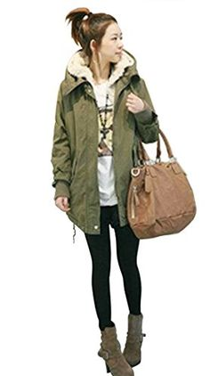Voglee Womens Fashion Winter Fur Coat Hoodies Warm Thicken Long Jacket Outwear -- See this great product.