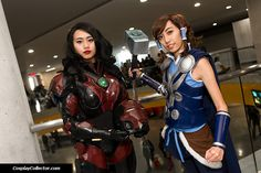 Asami Sato and Korra - New York Comic Con 2015Asami Stark and Thorra… ASSEMBLE!Cosplayers: karenmayc and inkaitlescent