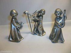 Vintage Italian Pewter Angels