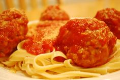 Amazing Homemade Meatballs...and so easy!! Awesome over spaghetti or on a sandwich with melted mozzarella...yum.