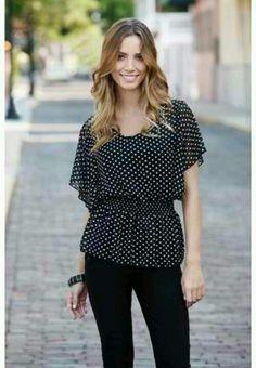 Dotted Chifon blouse