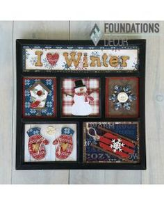 January I Heart Winter Shadow Box Kit Foundations Decor Christmas Shadow Boxes, Christmas Frames, Christmas Cards, Christmas Letters, Christmas Ideas, Wood Crafts, Paper Crafts, Bee Crafts, Wooden Projects