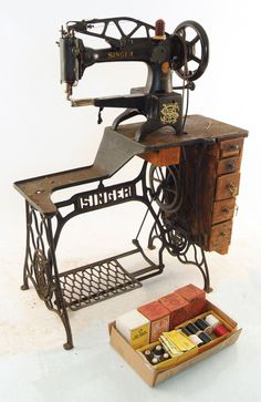 A HEAVY DUTY LEATHER WORKER'S SEWING MACHINE by Singer. I have on myself