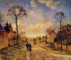 """CAMILLE PISARRO, French impressionnist, """"La Route de Louveciennes"""""""