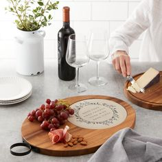White Marble Serving Platter Chopping Cheese Board Paddle Foodie Gift Idea