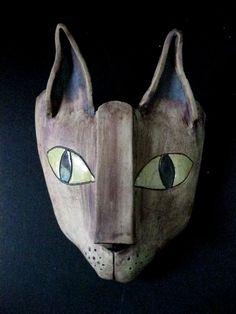 Egyptian Kitty Ceramic Mask-sold