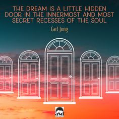 The dream is a little hidden door in the innermost and most secret recesses of the soul, opening into that cosmic night which was psyche long before there was any ego consciousness, and which will remain psyche no matter how far our ego-consciousness extends. -Carl Jung  #dream #luciddreaming #luciddreams #psychology #selfdevelopment #personaldevelopment #sunset #consciousness #consciousliving #spiritual #spiritualawakening #psychedelic #quote #wisdom