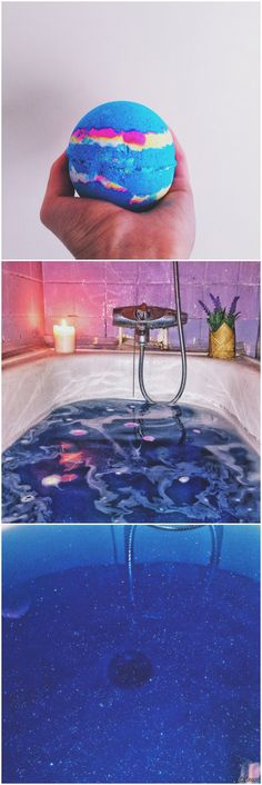 Lush- intergalactic bath bomb. Use this on your wedding day!! It leaves just a hint of sparkle on your skin to make you glow.