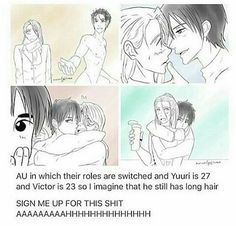 yuri!!! on ice | yoi | viktor nikiforov x katsuki yuuri | victuuri | viktuuri | age swap