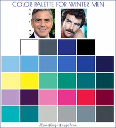 Color palette for Winter seasonal color men