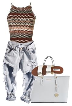 """"""""""" by zayani on Polyvore featuring Topshop, MICHAEL Michael Kors and Steve Madden"""
