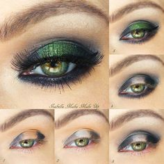 This eye makeup look features emerald and black eye shadow combination for a night out ready look. Get to know the steps in creating this makeup with the how-to here.