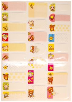 Cute kawaii RILAKKUMA 26 sticker set japan by MyChildhoodDream Cartoon Stickers, Kawaii Stickers, Cute Stickers, Japanese Cartoon, Rilakkuma, More Cute, Diy Scrapbook, Filofax, Birthday Cards