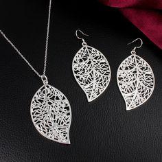 Silver Leaf Jewellery Set