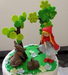 Bolo Chapeuzinho Vermelho - Little Red Riding Hood cake