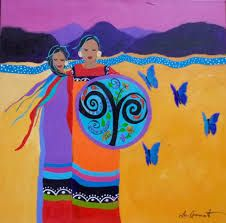 Artist:  Lee Claremont  ♥ lis Six Nations, First Nations, The Longest Journey, Fifth Generation, Iroquois, Acrylic Canvas, Different Flowers, Stargazing, Crow