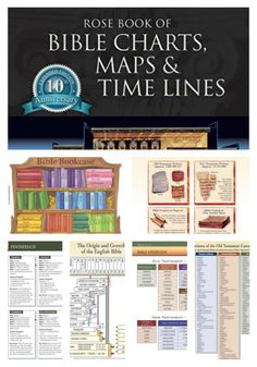 Rose Book of Bible Charts, Maps, and Time Lines. SUPER FOR BIBLE JOURNAL #biblejournalresources #biblejournaling #bibletimeline Free Amazon Prime Shipping