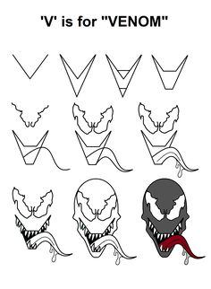 How To Draw Venom Step 8 Artworks In 2019 Pinterest How To