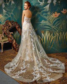 Blue by Enzoani Wedding Dresses Wedding Dresses For Girls, Colored Wedding Dresses, Designer Wedding Dresses, Bridal Dresses, Wedding Gowns, Bridesmaid Dresses, Blue By Enzoani, Taupe Wedding, Dream Wedding
