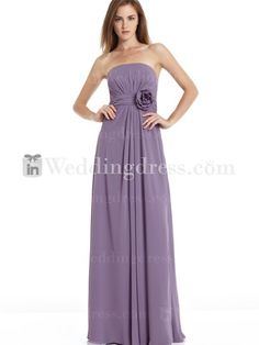 $118 Chiffon Bridesmaid Dress Long_Purple
