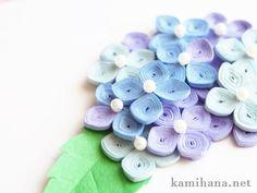 Paper Quilling -- 【ペーパークイリング】紙で作る紫陽花