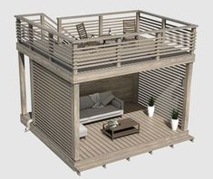 Garden furniture with roof terrace.- Garden furniture with roof terrace. Thanks to the polycarbonate roof, sunlight enters and water leaves the gutter. Backyard Patio Designs, Backyard Landscaping, Backyard Office, Landscaping Ideas, Design Jardin, Pergola Plans, Diy Pergola, Pergola Ideas, Modern Pergola