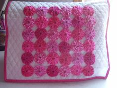 mixer cover made with yo yos   Sewing Machine Cover Yo Yo Bright by cottagegardenquilts