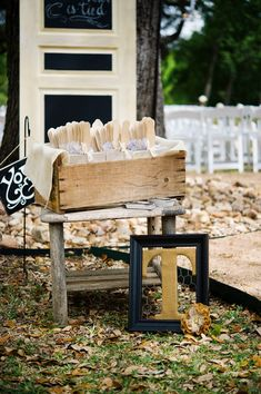 Give your guests programs that double as fans to beat the heat! #weddingideas #shabbychic {@jennlucia}