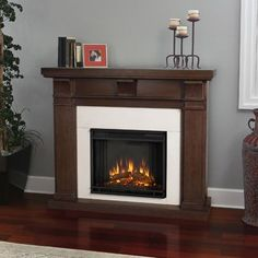 Real Flame Porter Electric Fireplace Mantel