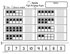 Apple Ten Frame Worksheet (NOT mine)