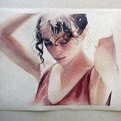 Terça-feira, #aquarela #watercolor. Resta uma vaga para meu workshop em SP, que será neste sábado/domingo: contato@pleinairstudio.com.br.