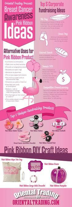 Breast Cancer Awareness and Pink Ribbon Ideas | Raise awareness and raise funds for breast cancer awareness with these ideas! #pinkribbon