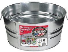 3GS - Gallon Galvanized Steel Round Tub