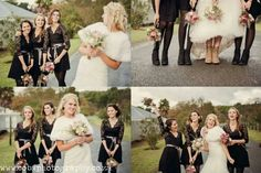 Great bride and bridesmaid pics. Fun and memorable moments... pic of our wedding boots. Laces and lace!