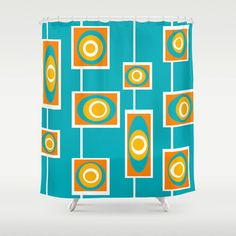 Geometric Modern Shower Curtain