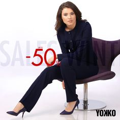 ♡ New year, new surprises! Up to 50% OFF at Fall-Winter YOKKO Collection, online & in stores! #wintersales #sales #jackets #dresses #blouses #trousers #joy #fun #fashion #yokkostyle