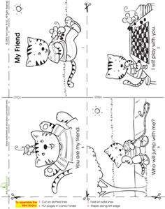 kindergarten phonics worksheets make a mini story book my friend - Free Educational Worksheets For Kindergarten