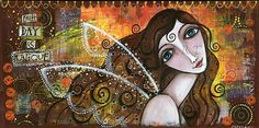 ,,EACH DAY IS UNIQUE,, by silvica - SAShE.sk - Handmade Obrazy Each Day, Mixed Media Art, Workshop, Angel, My Favorite Things, Gallery, Unique, Handmade, Painting