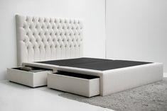 Sommier Gavetas – www.cabeceiras.pt Bedroom Bed Design, Room Decor Bedroom, Master Bedroom, Bed Room, Bed Furniture, Bed Frame, Mattress, House Design, Interior Design