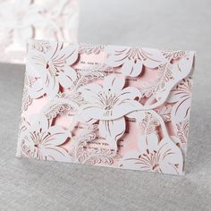 Lily Blossoms Laser Cut Wrap By B Wedding Invitations I Say Yes To This  Invitation!
