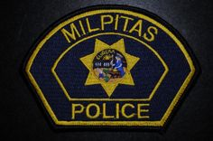 Milpitas Police Patch, Santa Clara County, California (Current 1989 Issue)