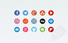 round social media facebook twitter instagram and google+ icons